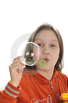 Girl Playing With Bubbles Stock Photography - Image: 9050912