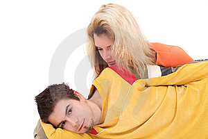 Boy And Girl Together Stock Image - Image: 9051141