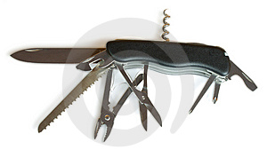 Black Army Penknife Royalty Free Stock Images - Image: 9051319