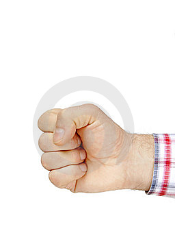 Fist Isolated On White Royalty Free Stock Photo - Image: 9052055
