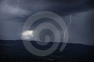 Lightning In Mountains Stock Photography - Image: 9052222