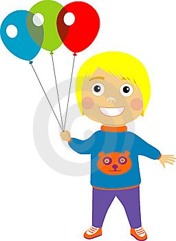Boy With Balloons Stock Photos - Image: 9053003