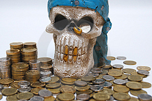 Coins & Skull Stock Images - Image: 9053564