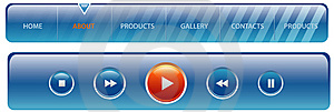 Aqua Header And Digital Player Royalty Free Stock Photos - Image: 9053708