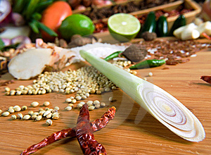 Dried Red Pepper And Chives Stock Images - Image: 9054724