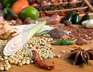 Fresh Herbs And Spices Stock Photography - Image: 9054742