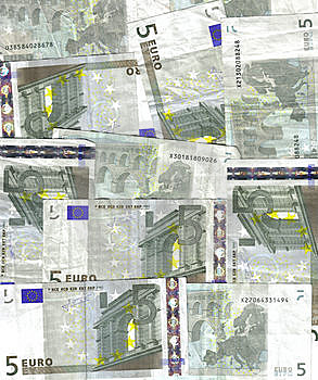 Fondo Del Euro 5 Imagen de archivo libre de regalías - Imagen: 9054806