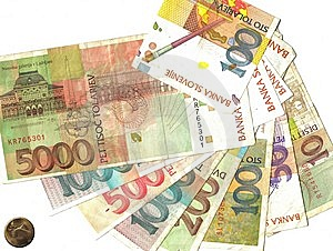 Slovenian Notes Stock Photography - Image: 9054812