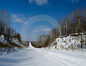 The Winter Road Stock Photos - Image: 9054943