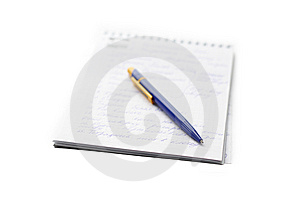 Notebook And The Pen Stock Images - Image: 9055864