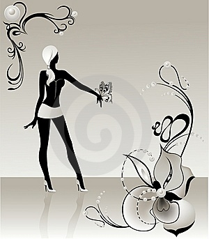 Silhouette Noire Image stock - Image: 9056301