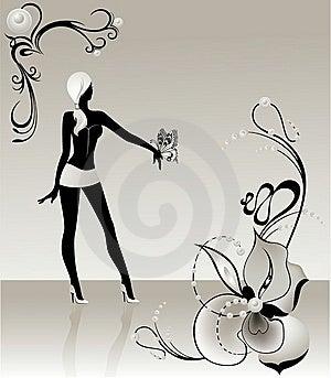 Silhueta Preta Imagem de Stock - Imagem: 9056301