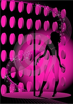 Mooi Silhouet Royalty-vrije Stock Fotografie - Afbeelding: 9056327