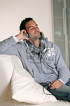 Man Headphones Stock Images - Image: 9056634