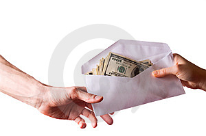 Hands And Money Stock Photo - Image: 9057310