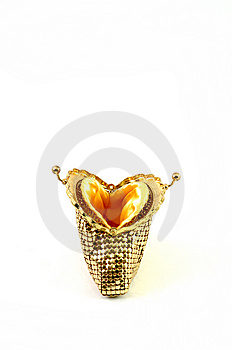 Empty Golden Purse Royalty Free Stock Photography - Image: 9057437