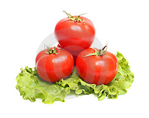 Red Tomatoes And Green Lettuce Royalty Free Stock Photo - Image: 9057665