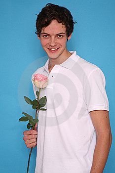 Man With Rose Stock Image - Image: 9057701