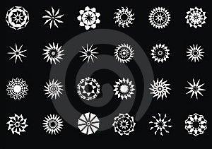 Design Elements, Set  Stars Stock Images - Image: 9058314