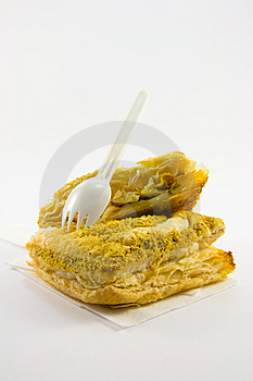 Pasty With Plastic Fork Royalty Free Stock Photography - Image: 9058377