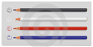 Four Colour Pencils Stock Photos - Image: 9058633
