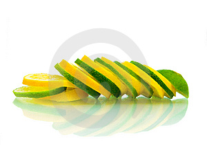 Sliced Limes Royalty Free Stock Images - Image: 9058899
