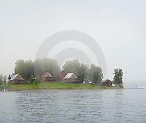 Lake Island In Fog Stock Photography - Image: 9059942