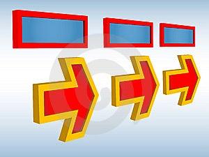 Three Arrows Royalty Free Stock Photo - Image: 9061025