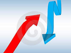 Red And Blue Arrows Stock Image - Image: 9061041
