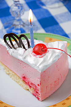 Cake With Candle Stock Images - Image: 9061984