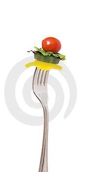 Mordida Da Salada Imagens de Stock - Imagem: 9062294