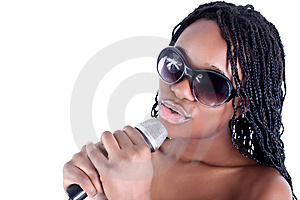 Young Afro-american Singer Stock Photo - Image: 9063120