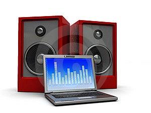 Multimedia Laptop Royalty Free Stock Photo - Image: 9063705
