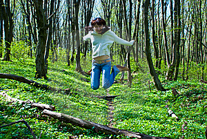 Jumping Girl Stock Image - Image: 9063941