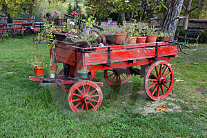 Old Horse Drawn Wagon Royalty Free Stock Image - Image: 9064366
