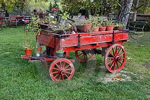 Vieux Chariot Hippomobile Image libre de droits - Image: 9064366