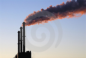 Steaming Chimneys Royalty Free Stock Photo - Image: 9064665