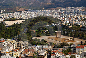 Temple Of Olympian Zeus, Athens, Greece Royalty Free Stock Image - Image: 9065816