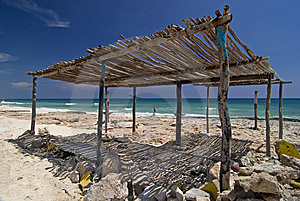 Shelter On Beach, Cozumel Royalty Free Stock Photo - Image: 9068075