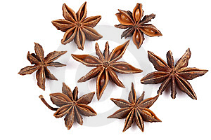Star Anise On White Stock Image - Image: 9068461