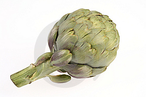 Artichoke On White Royalty Free Stock Image - Image: 9068706