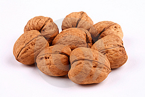 Walnuts On White Stock Photography - Image: 9068862