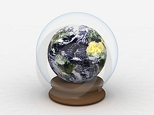 Earth In A Glass Globe Stock Image - Image: 9069231