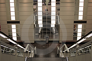 Escalator Stock Photo - Image: 9070370
