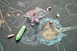 Sidewalk Chalk Art Royalty Free Stock Photo - Image: 9072925