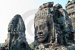 Bayon Temple Tower Faces 3 Stock Image - Image: 9073011