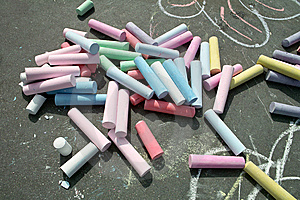 Sidewalk Chalk Stock Photography - Image: 9073092