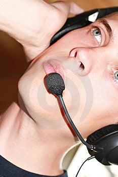 Écouteurs Masculins Images stock - Image: 9073284