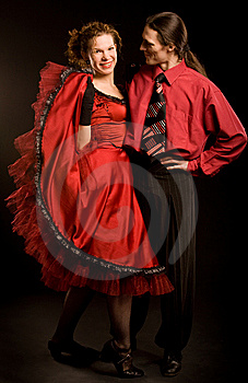 Couple In Red Stock Images - Image: 9073754