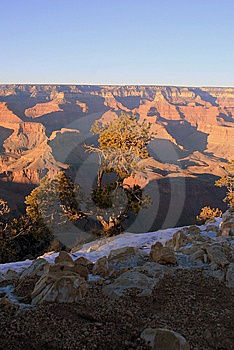 Grand Canyon In Winter Royalty Free Stock Image - Image: 9074576